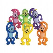 12 Inflatable Neon Monkeys